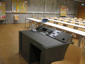 View from the front of a type 2 lecture room