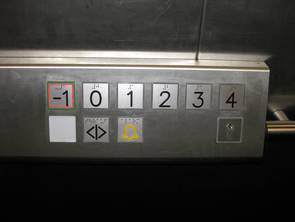 Level buttons in a lift