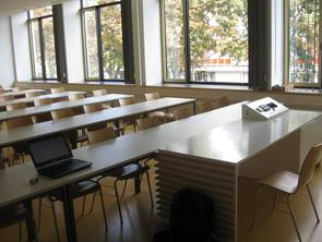 Front area of a type 2 lecture room
