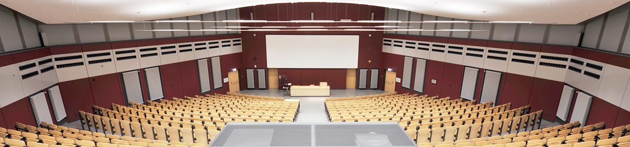 View into the largest lecture room at FHWS location in Schweinfurt